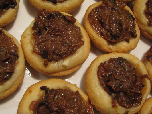 Brie and Caramelized Onion Tartletts