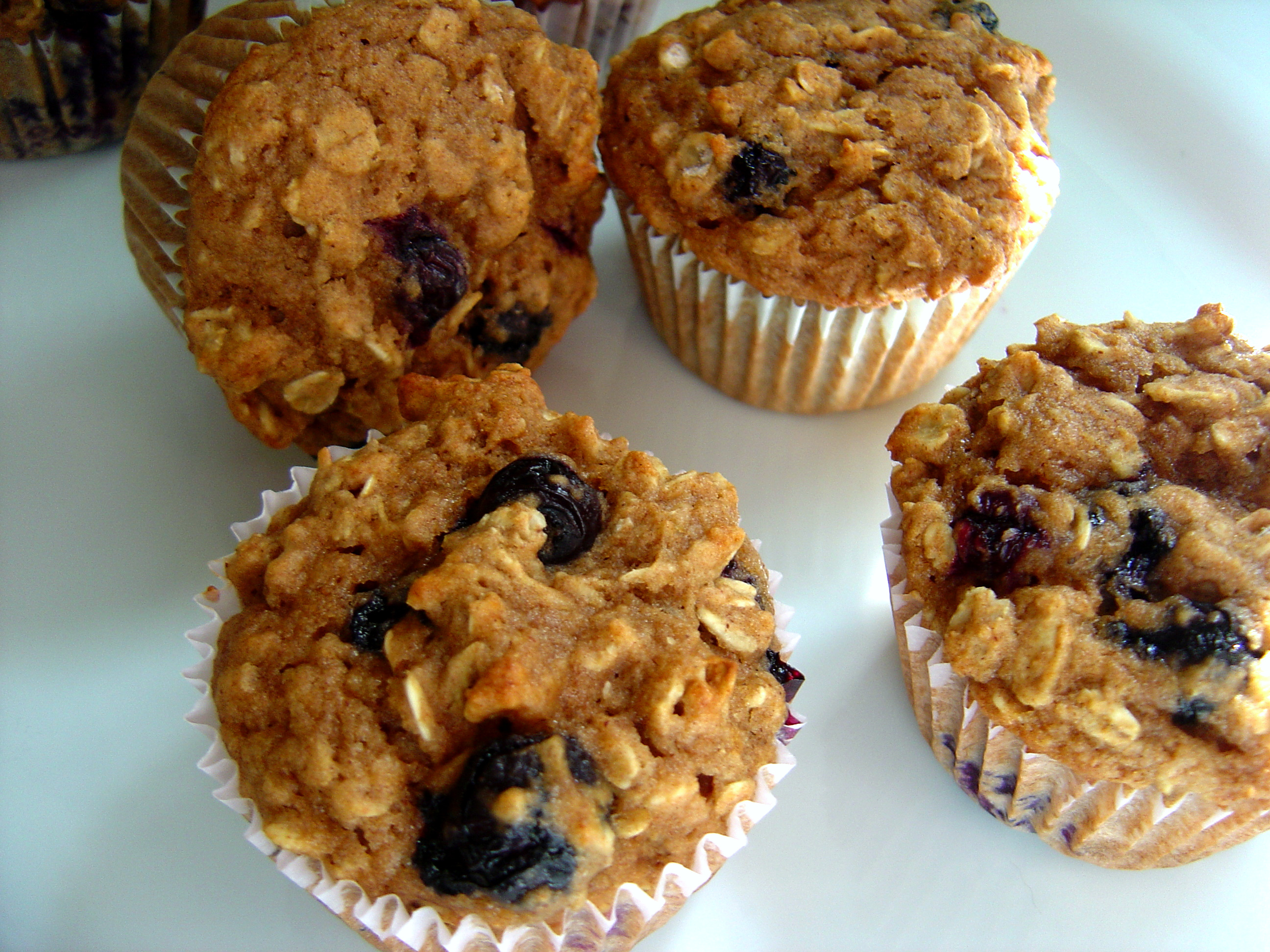 Oatmeal Blueberry Applesauce Muffins from Smells Like Home food blog