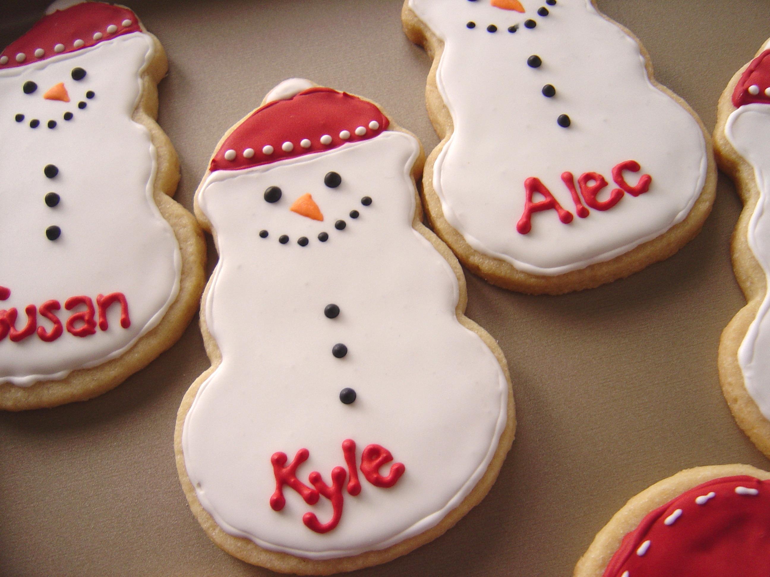 Snowmen Mitten Sugar Cookies Smells Like Home
