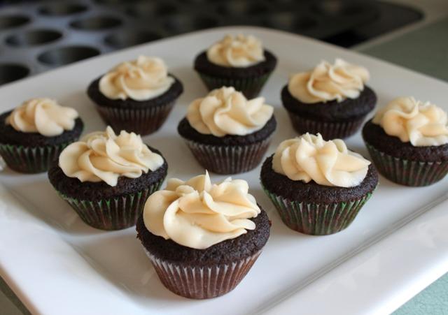 Guinness Chocolate Cupcakes + Bailey's Irish Cream Buttercream