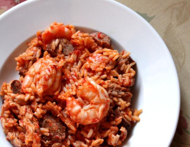 Shrimp Jambalaya Chicken and shrimp jambalaya